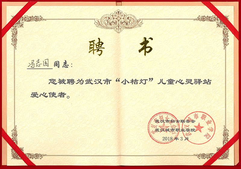 武汉妇女联合会-儿童心灵驿站 爱心使者